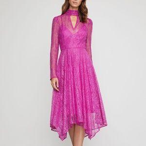BCBGMAXAZRIA Asymmetrical Lace Cutout Dress.NWT!